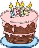 Großer Geburtstagskuchen vektor abbildung