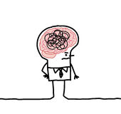 Großer Gehirnmann u. -verwirrung lizenzfreie abbildung