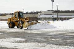 Großer gelber Schnee-Pflug 1 Lizenzfreie Stockfotos