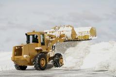 Großer gelber Schnee-Pflug 3 Lizenzfreie Stockbilder