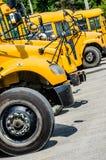 Großer gelber Schulbus Stockbild