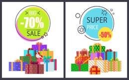 Großer Gesamtverkauf - 70 weg von den super Rabatten zum halben Preis stock abbildung