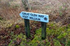 Großer Glen Way stockbilder