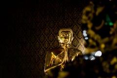 Großer Gold-Buddha-Whitmusterhintergrund stockfotografie