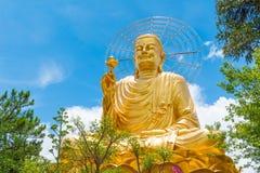 Großer goldener Buddha Stockfoto