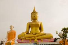 Großer goldener Buddha-Stuck an Wat Klong-reua Phitsanulok, Thailan Stockfotografie