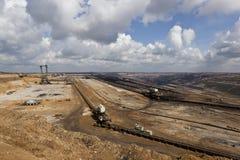 Großer Gräber in der im Tagebau Kohlengrube Stockfoto