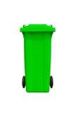 Großer grüner Abfalleimer Lizenzfreie Stockbilder