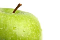 Großer grüner Apfelabschluß oben Lizenzfreie Stockfotografie