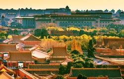 Großer Hall People Forbidden City Beijing China lizenzfreies stockbild