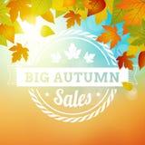 Großer Herbstverkaufs-Geschäftshintergrund Stockfotografie