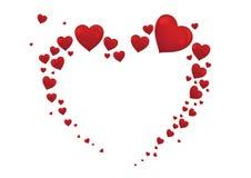 Großer Herzvalentinsgruß-Kartenvektor Lizenzfreie Stockfotografie