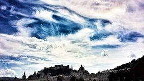 Großer Himmel Salzburg Stockfotografie