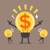 Großer Ideencharakter der Karikatur für Geschäft Lizenzfreies Stockbild