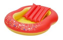 Großer inflatables Schieber lokalisiert auf Weiß mit Beschneidungspfad Lizenzfreies Stockfoto