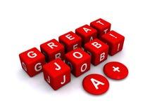 Großer Job A+ Lizenzfreies Stockfoto