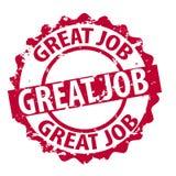 Großer Jobstempel des Vektors Lizenzfreies Stockfoto