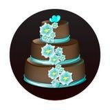 Großer köstlicher Schokoladenkuchen Stockbilder