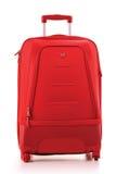 Großer Koffer getrennt auf Weiß Lizenzfreie Stockfotos