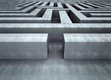 Großer konkreter Labyrinth-Konzept-Hintergrund lizenzfreie abbildung