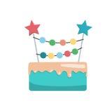 Großer Kuchen alles Gute zum Geburtstag Lizenzfreie Stockbilder