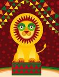 Großer Löwe im Zirkus Vektor Lizenzfreies Stockfoto