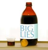 Großer Lügensirup Stockfotos