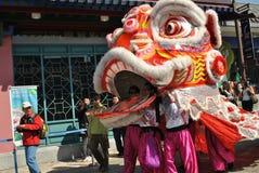 Großer Lion Dance Performance Lizenzfreies Stockfoto