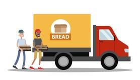 Großer LKW voll des Brotes Lizenzfreies Stockfoto