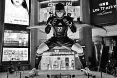 Großer Manga Soccer Player Statue Lizenzfreie Stockfotografie