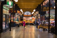 Großer Markt Hall in Budapest Ungarn stockfotos