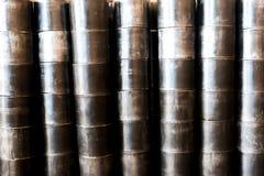 Großer Metallrohrhintergrund Stockfotografie