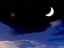 Großer Mond Lizenzfreies Stockbild