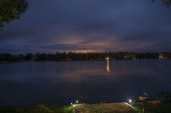 Großer Nellie Lake Nighttime Lizenzfreie Stockfotos
