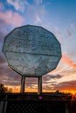 Großer Nickelmarkstein in Sudbury, Ontario Stockfotos