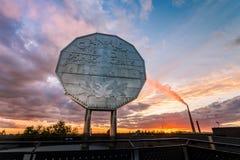 Großer Nickelmarkstein in Sudbury, Ontario Stockfoto