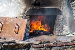 Großer Ofen für Tonwaren Stockbild