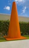 Großer orange Kegel Lizenzfreies Stockfoto