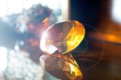 Großer orange transparenter Stein Lizenzfreies Stockbild