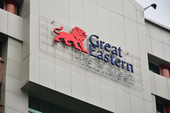 Großer Ostleben Signage in Kota Kinabalu, Malaysia stockfotografie