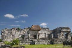 Großer Palast bei Tulum Stockfotos