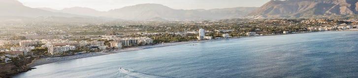 Großer Panoramablick von Altea und von Albir, Spanien Lizenzfreies Stockbild