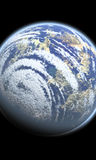 Großer Planet im Platz lizenzfreie abbildung