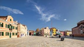 Großer Platz zu Burano Stockfotos