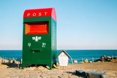 Großer Postbox in Ganjeolgot-Strand, Ulsan, Korea Lizenzfreie Stockfotos