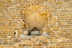 Großer Pyramideeingang Stockbild