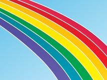 Großer Regenbogen-Hintergrund lizenzfreie stockfotos