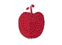 Großer roter Apfel der kleinen Äpfel Stockfotografie