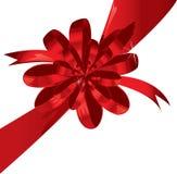 Großer roter Feiertagsbogen auf weißem Hintergrund Lizenzfreies Stockfoto