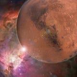 Großer roter Planet Stockbild